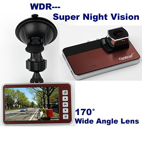 Conbrov-Full-H264-1080p-Car-Video-Camera-Dash-Cam-Vehicle-Recorder-Black-Box-Backup-Dashboard-with-super-good-low-light-performance-and-170-Wide-Angle-lens
