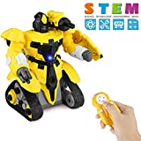 Betheaces Kids Toys Remote Control Robot - RC Assembly Robots for Kids Building Blocks Set Educational Robots STEM Kit Toys for Boys Girls Toddlers Age of 2 3 4 5 6 7 Year Old