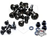 Black Fairing Bolt Kit Screws Fasteners for Kawasaki ZX-6R 1998-2002 & ZZR600 2003-2008