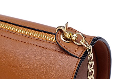 Bolso Para Mujer De BHUE Paquete Diagonal Bolsos Bolso De Cadena Paquete Muchachas Partido Retro Señoras Manera Retro Bolso De Hombro Brown