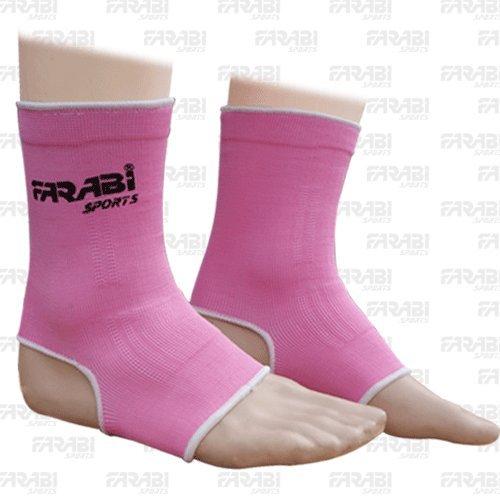 Farabi Sports - Tobilleras para muay thai o kick boxing (talla S/M), color rosa AS-1001-PINK