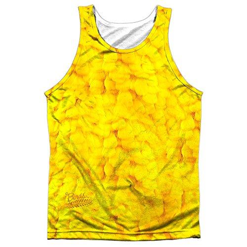 Twitter Bird Costume (Sesame Street Big Bird Costume Mens Sublimation Tank Top Shirt (White, Medium))
