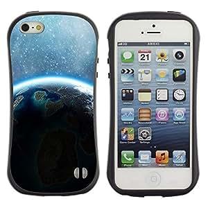 Suave TPU GEL Carcasa Funda Silicona Blando Estuche Caso de protección (para) Apple Iphone 5 / 5S / CECELL Phone case / / Earth Stars Sunshine Blue Alien Planet /