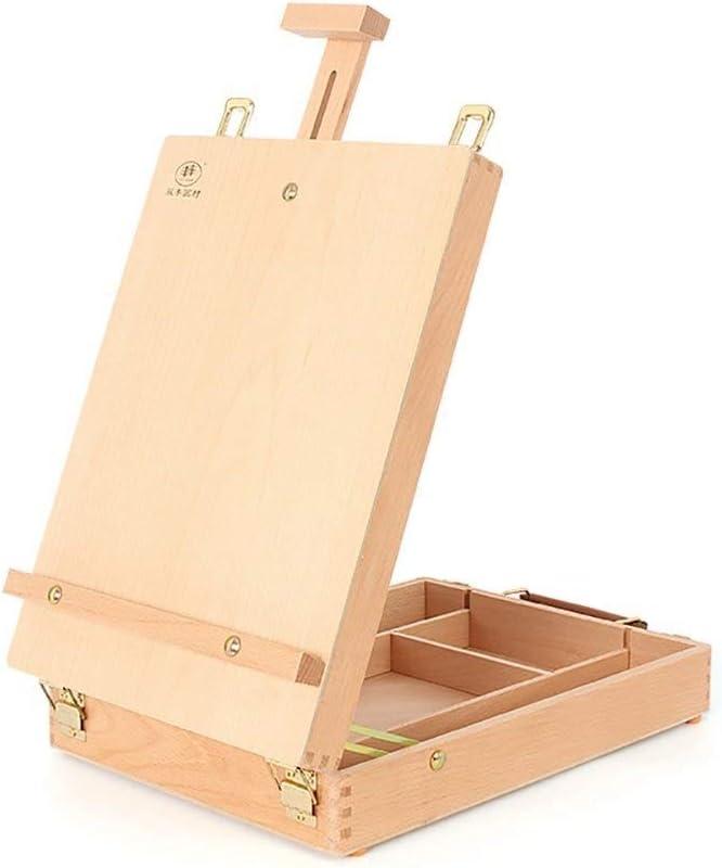 DJSMdjhj Arte Caballete de Escritorio Caja de Pintura de Aceite de ...