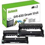 Aztech Drum Unit Compatible for Brother DR630 Drum DR-630 DR 630 Replacement for Brother HL-l2340DW HL-L2340DW HL-L2300D HL-L2320D MFC-L2700DW MFC-L2740DW MFC-L2720DW DCP-L2540DW -(2Pack-Drum Unit)