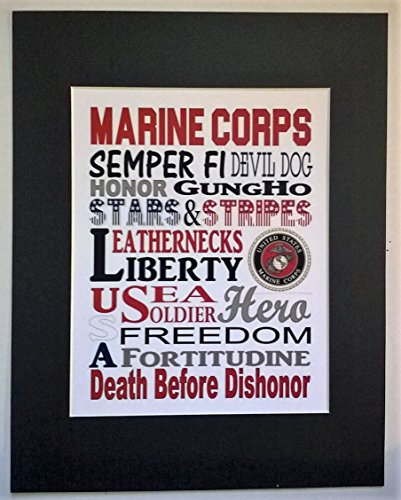 000-marine-corps-subway-street-art-8x10-photograph-matted-in-an-11x14-mat-with-us-marine-corps-value