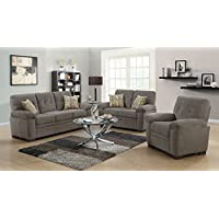 Coaster 506582-CO Fabric Sofa, Oatmeal Finish