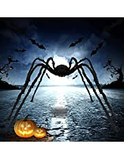 Giant Halloween Spider 6.6 Ft, Scary Halloween Yard Decorations Large Fake Hairy Spider Furry Spider Props Outside Yard Creepy Decor, Indoor Outdoor Halloween Decorations