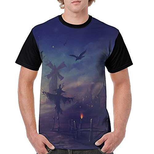 Men's Unique T Shirts Happy Halloween Scary Illustration