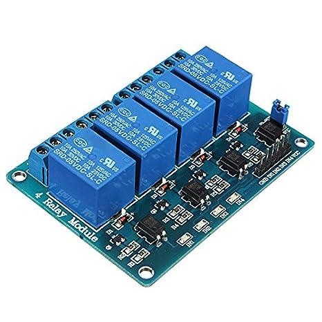 TOOGOO R 4 Kanal 5V Relay Relais Module Modul fuer Arduino TTL-Logik