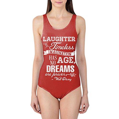 Rojo risas es Timeless Walt Disney cita Bañador de mujer XS-3X L una pieza