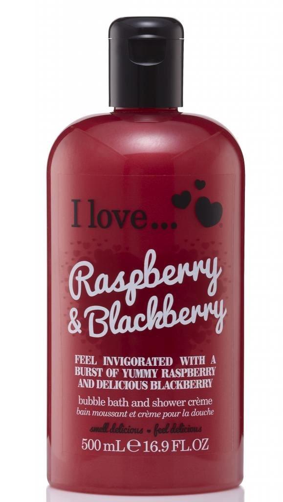 I Love... Raspberry & Blackberry Bubble Bath And Shower Creme 500ml I Love Cosmetics 5060217188095