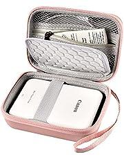 Case Compatible with Canon Ivy Mobile Mini CLIQ CLIQ+ CLIQ2 CLIQ+2 Instant Camera Printer, Wireless Bluetooth Portable Smartphone Photo Printer, Mesh Pocket fits Paper & Cable, Rose Gold
