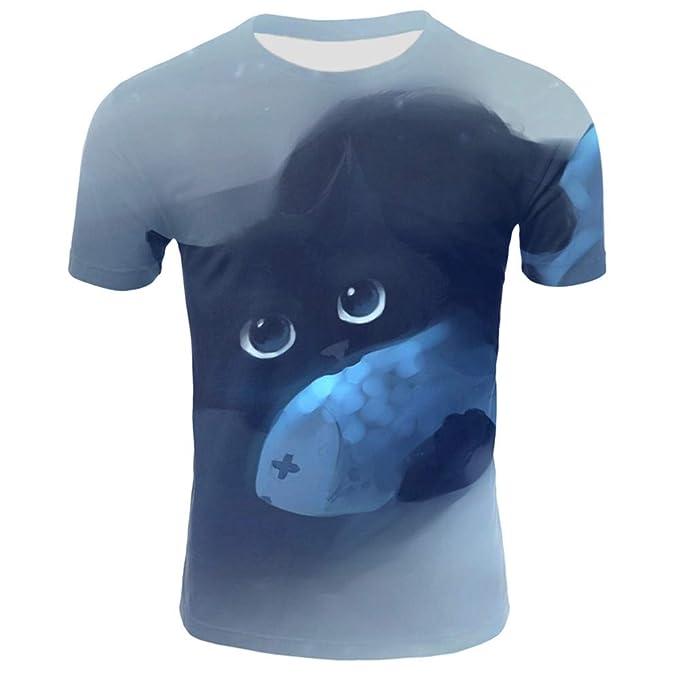LeeQn Unisex 3D Camiseta Impresa Manga Corta Sudadera Pullover ...