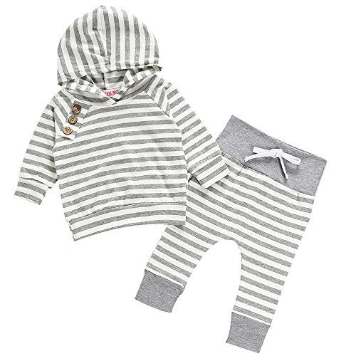 BFUSTYLE Unisex Newborn Baby Boys Girls Warm Hoodie Top + Legging Pants Outfits Set Kids Clothes