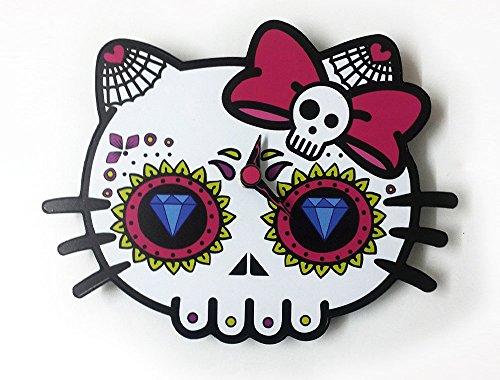 Day of the Dead Sugar Skull - Dead Kitty Silhouette - Wall (Hello Kitty Dia De Los Muertos)