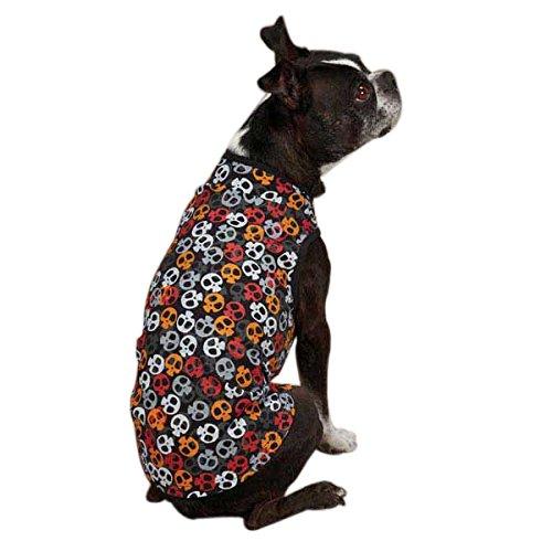 Kooky Spooky Costumes (Casual Canine ZM2167 08 69 Bone Heads Tank for Dogs, XX-Small, Orange)