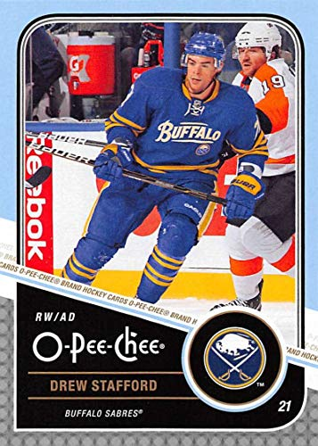 (2011-12 O-Pee-Chee Hockey #121 Drew Stafford Buffalo Sabres Official NHL Trading Card From Upper Deck)