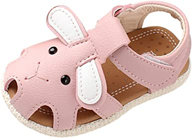 Kimanli Toddler Baby Girl Sandals Floral Sole Kids Children Princess Sandals Shoes Beach