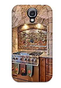 Awesome Gourmet Viking Oven Range With Mural-like Tile Backsplash Flip Case With Fashion Design For Galaxy S4
