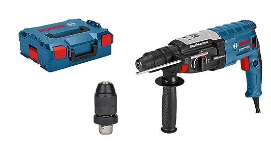 Marteau perforateur Bosch Professional GBH 2-28 F, SDS-plus, Mandrin SDS plus 13 mm, 880 W, Poignée supplémentaire, Chiffon, en coffret L-Boxx, Référence 0611267601