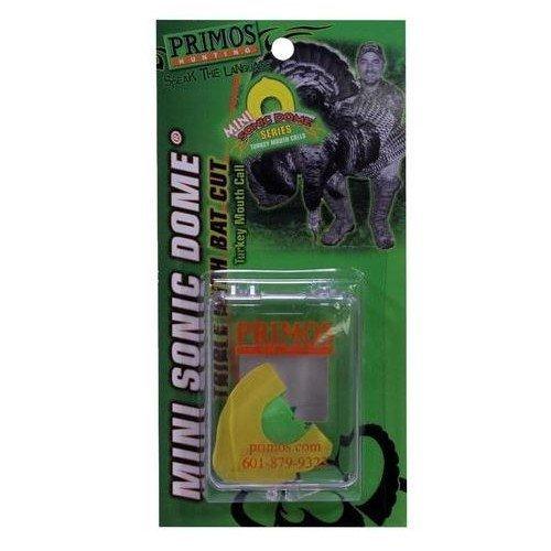 Primos Mini Sonic Dome - Primos Hunting PS1193 Turkey Mouth Call, Mini Sonic Dome Triple W/Bat Cut