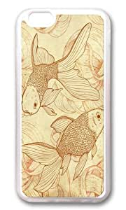 Apple Iphone 6 Case,WENJORS Awesome Vintage Goldfishes Soft Case Protective Shell Cell Phone Cover For Apple Iphone 6 (4.7 Inch) - TPU Transparent by lolosakes