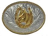 """Western Belts Boys Oval Horse Shoe Buckle 2.5"""" W"""