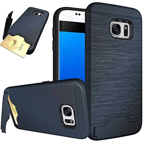 Samsung S7 Edge Case,Galaxy S7 Edge Case,Creativecase Hybrid Hard with Card Solt Walelt with Stand Design Case Sales