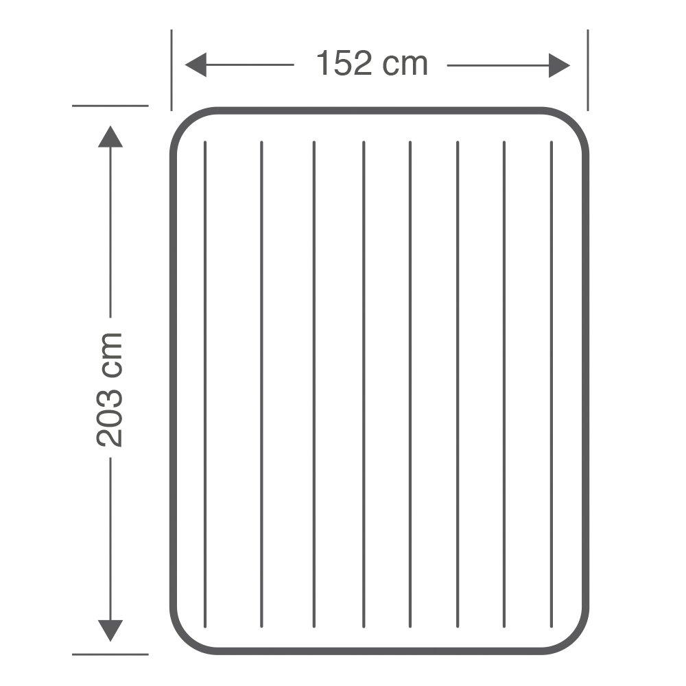 Intex 64118 - Colchón hinchable Dura-Beam Standard Pillow Rest Midrise 152 x 203 x 30 cm: Amazon.es: Hogar