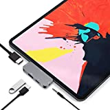 USB C HUB Adapter for iPad Pro 11 12.9 2019 2018 - USB C to HDMI Dongle with 3.5mm Audio Jack - USB3.0 - Type C PD Charging Dock