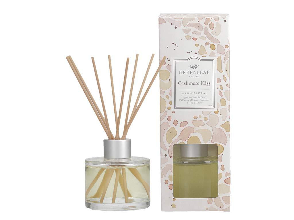 GREENLEAF Signature Reed Diffuser - Cashmere Kiss - Lasts Up to 30 Days - Made in The USA