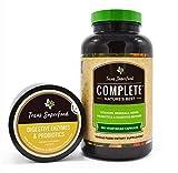 Texas SuperFood - Complete Organic Capsules, Vitamins Minerals Herbs Probiotics & Digestive Enzymes, Non-GMO, Gluten Free, Vegan, 180 Vegetarian Capsules