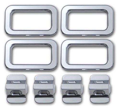 Chrome Billet Interior Door - H20031SC 03-07 H2 Hummer SUV & SUT Chrome Billet Interior Door Lock & Bezel Set