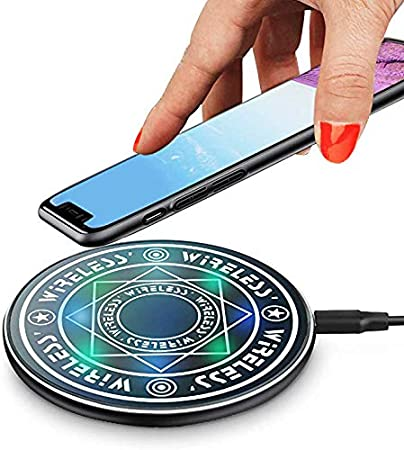 Ultra-Thin Slim Design for Qi Compatible Smartphones iPhone 11//11Pro//ProMax 8//8 Plus//X//XS//XS Max//XR Samsung S6//S6edge//S8//S8 Plus//S9//S9+//LG Fast Magic Wireless Charging Charger Pad
