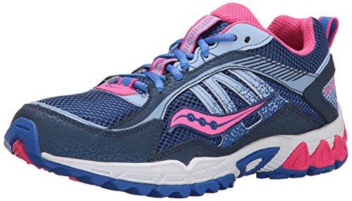 Saucony Excursion Sneaker (Little Kid/Big Kid),Navy/Blue/Pink,10.5 W US Little Kid