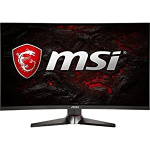 "MSI Full HD Gaming Red LED Non-Glare Super Narrow Bezel 1ms 2560 x 1440 144Hz Refresh Rate 2K Resolution FreeSync 27"" Curved Gaming Monitor (Optix MAG27CQ)"