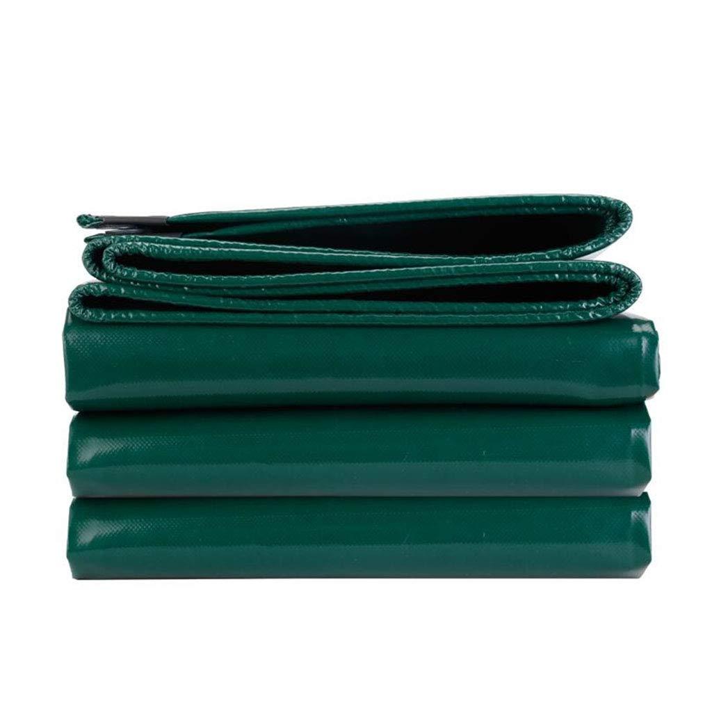 YX-Planen PVC-Plane strapazierfähiges, wasserdichtes Blatt Premium-Qualitätsabdeckung Grün - 100% wasserdicht und UV-geschützt - Dicke 0,5 mm, 650 g m²