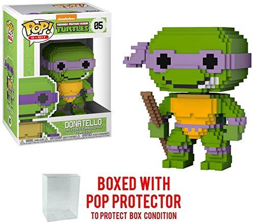 Funko 8-Bit Pop! Teenage Mutant Ninja Turtles - Donatello Vinyl Figure (Bundled with Pop BOX PROTECTOR CASE) ()