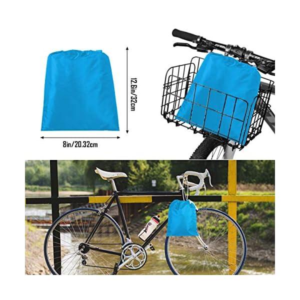 51inyFrMefL Favoto Fahrradabdeckung Wasserdicht Fahrrad Abdeckplane 210D Oxford-Gewebe Fahrradgarage Plane Fahrrad schutzhülle mit…