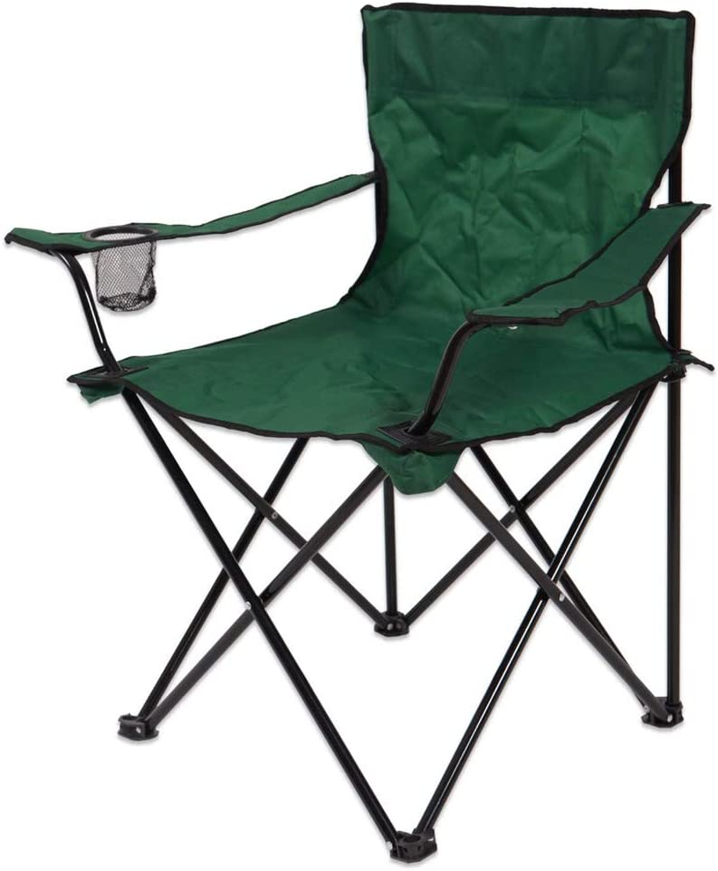 Silla Plegable de Camping Verde de Acero para Playa Garden - LOLAhome