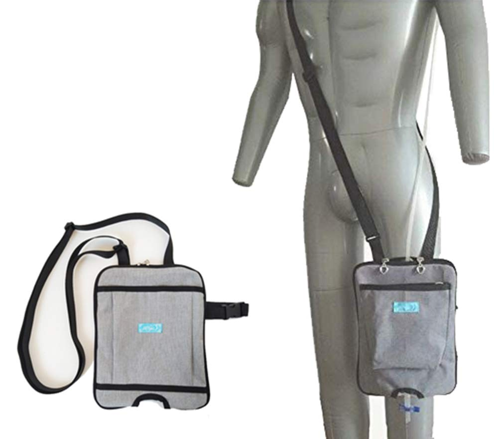 BIHIKI Incontinence Kit,Urinary Catheter Bag Ostomy Bag Holder,Bladder Ostomy Elderly Drainage Bag Care Package with Adjustable Shoulder Strap for Home,Travel,Wheelchair,Bed (A, 2000ML)