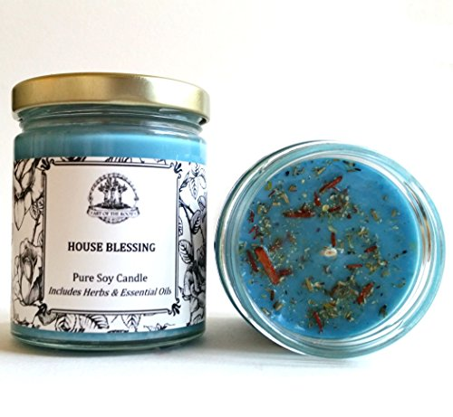 House Blessing Soy Herbal Candle 6 oz for Good Fortune, Blessings, Peace & Tranquility (Root Candles Soy)
