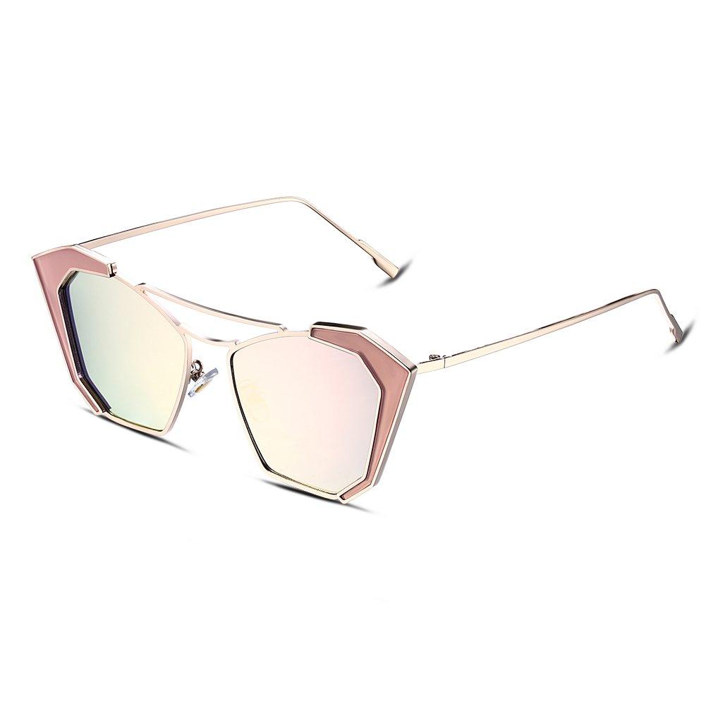 hot sale 2017 NYKKOLA moda moderna de las mujeres Metal Frame Gafas ...