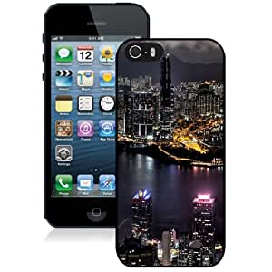 Beautiful Unique Designed iPhone 5S Phone Case With Taipei 101 Taiwan City Night View_Black Phone Case