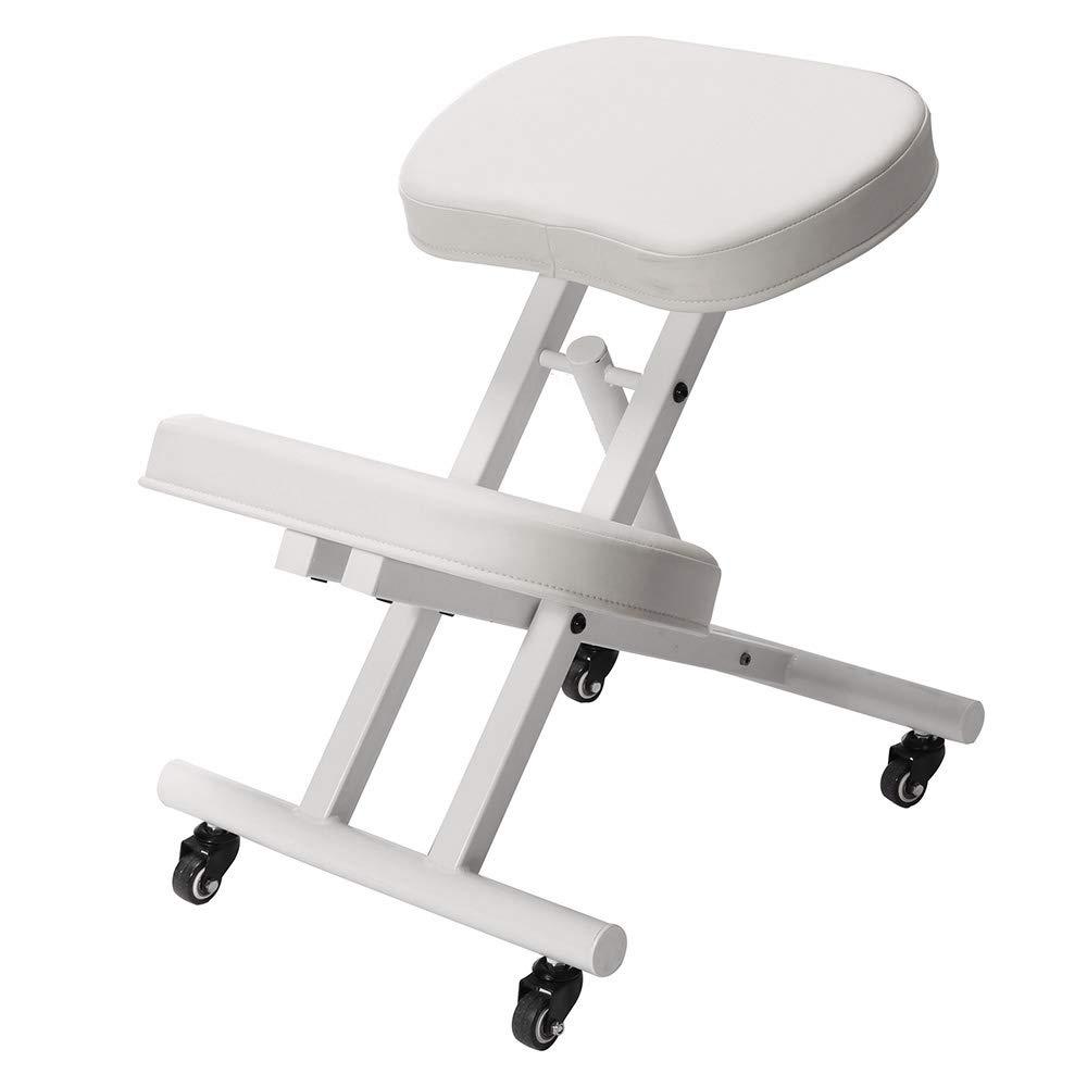 Modern Home Ergonomic Rolling Kneeling Posture Chair - White/White by Modern Home