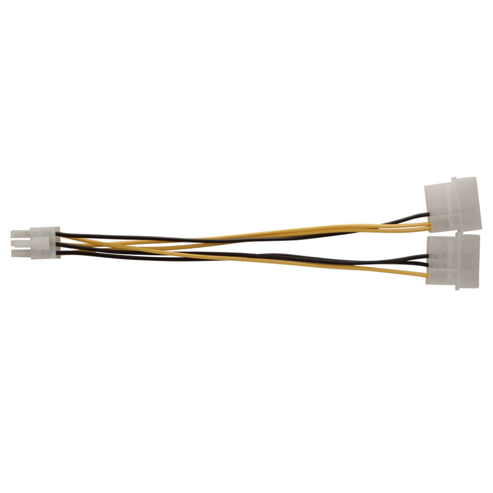 Kingwin  8-Inch  Dual 4P to 6P PCI Express Extension Power Cable PCI-03