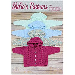 Crochet Pattern for Baby, Hooded Baby Jacket, 4 Sizes, CP2