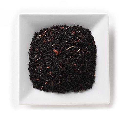 Mahamosa Raspberry Cream Decaf Tea 2 oz- Flavored Decaffeinated Black Tea Blend (with loose leaf decaf black tea, safflowers, raspberry leaves, raspberry cream flavor)