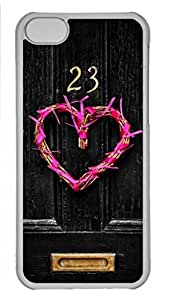MMZ DIY PHONE CASECool Art Open The Door To Your Heart Hard Plastic Back Case Cover for ipod touch 5 Transparent (526 art) _619106